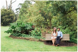 Stylish engagement shoot at San Francisco's botanical garden